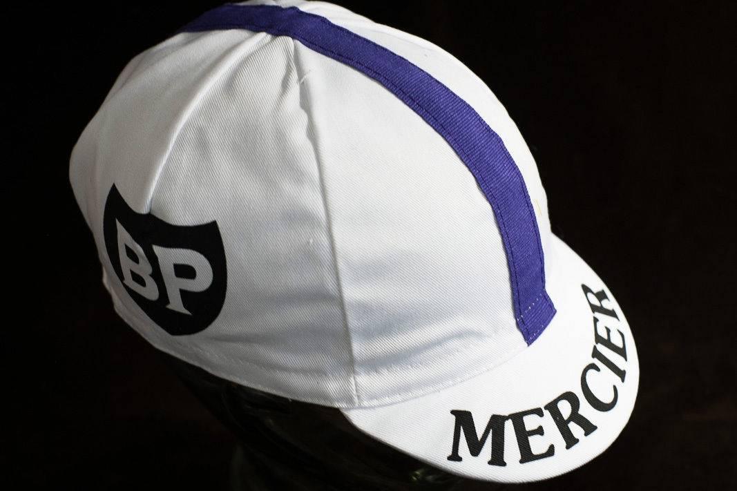 """Casquette Mercier """"Cycling Cap"""" Casquette cycliste à visière avec des rayures de champion du monde"""