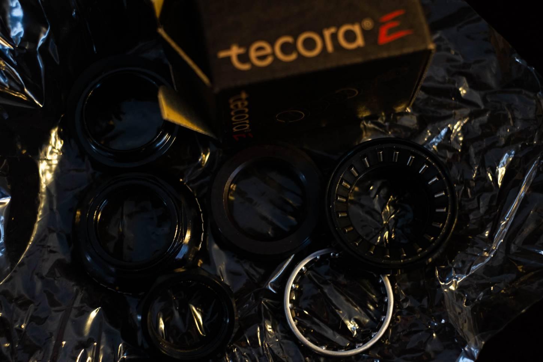 Tecora 1 Zoll Gewinde Steuersatz EC30 Alu schwarz