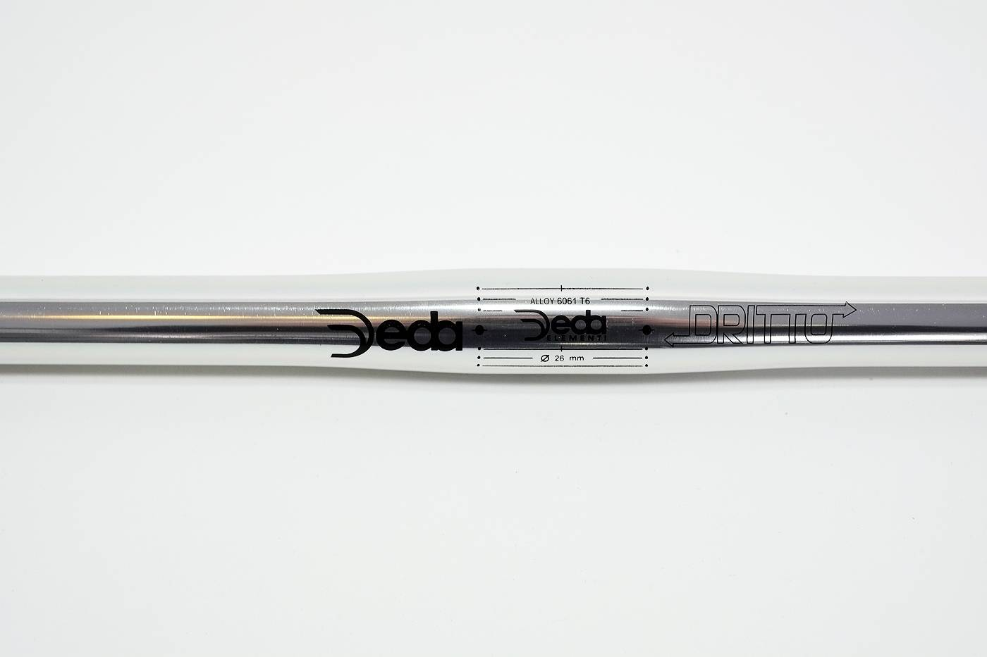 DEDA Dritto 26 Flatbar Lenker ALU 6061 - silber poliert Singlespeed Fixie 50 cm