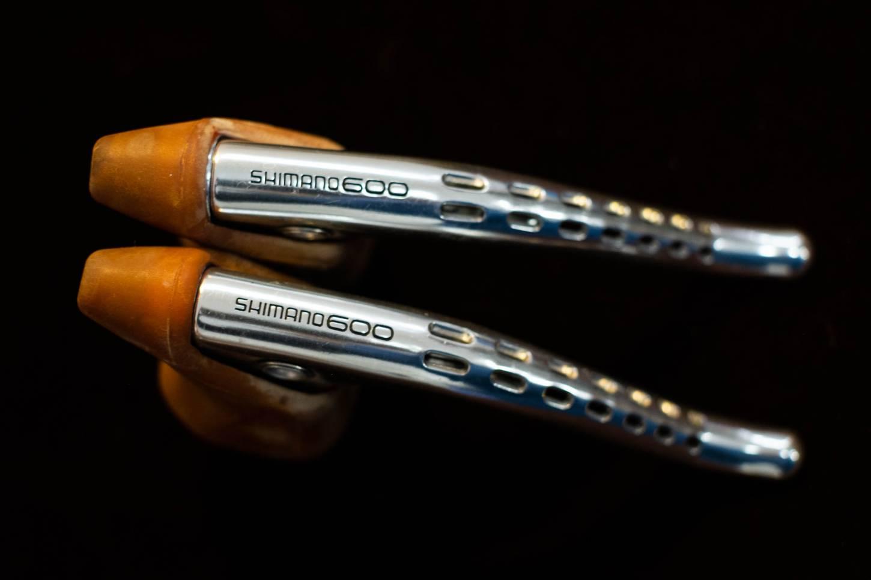 NOS Shimano 600 EX BL-6208 Bremshebel Set helle Bremshussen