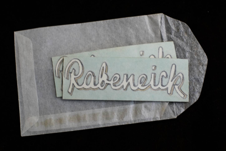 Rabeneick Schriftzug Logo Sign Zeichen Abziehbild