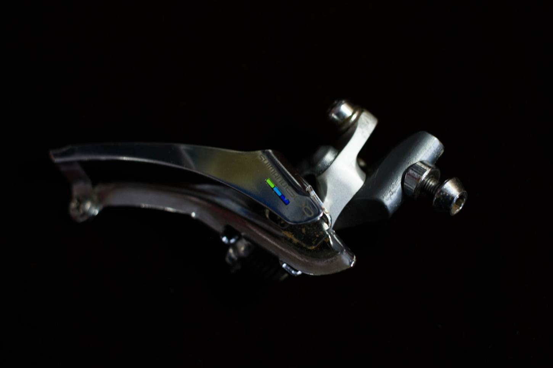 Shimano 600 Ultegra Umwerfer FD-6400 Tricolor 7 Fach Braze On Front Derailleur Vintage