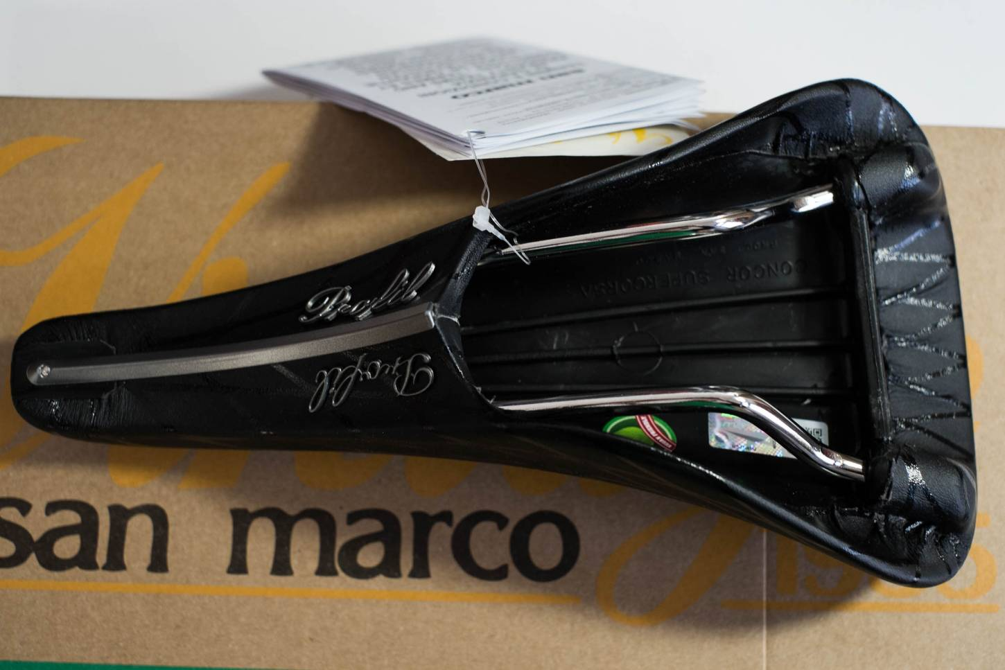 X Profil San Marco Concor X Selle Microfeel Saddle - noir Vegan Friendly