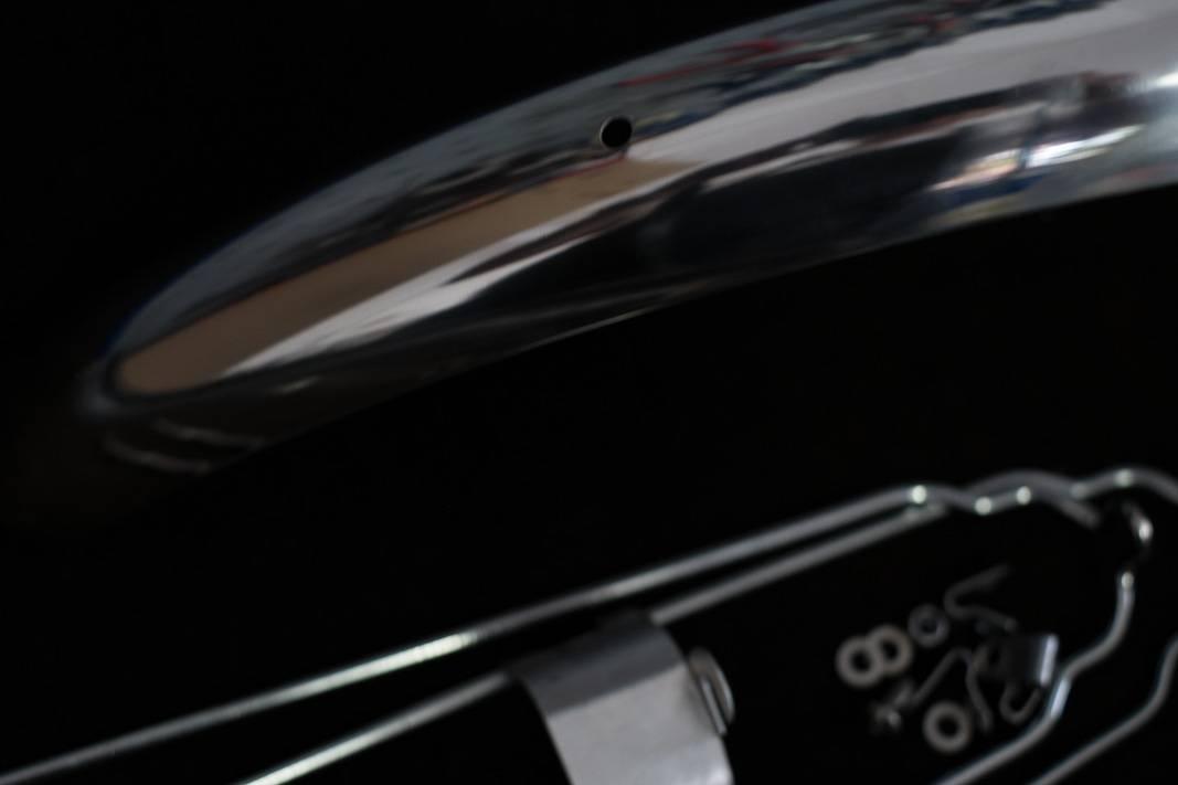 Schutzbleche, Edelstahl, hand poliert, 28 Zoll, in 50mm, Breite, Studio Brisant