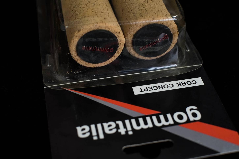 NOS Gommitalia Cork Concept Lenkergriffe Kork grob natur 135 mm Länge Vintage