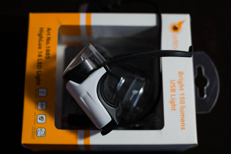 vOwleye High LUX 18 LED USB Light Head Light Anstecklicht 150 Lumen / 30 LUX