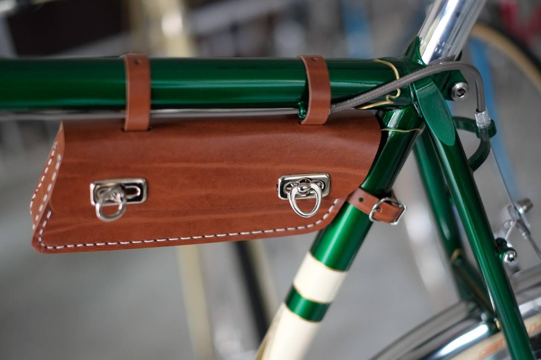 Rahmentasche, Retro Style, längliche Form, Bags, Rennrad, Tourenrad, Lefa, schwarz, hoing, antik-braun