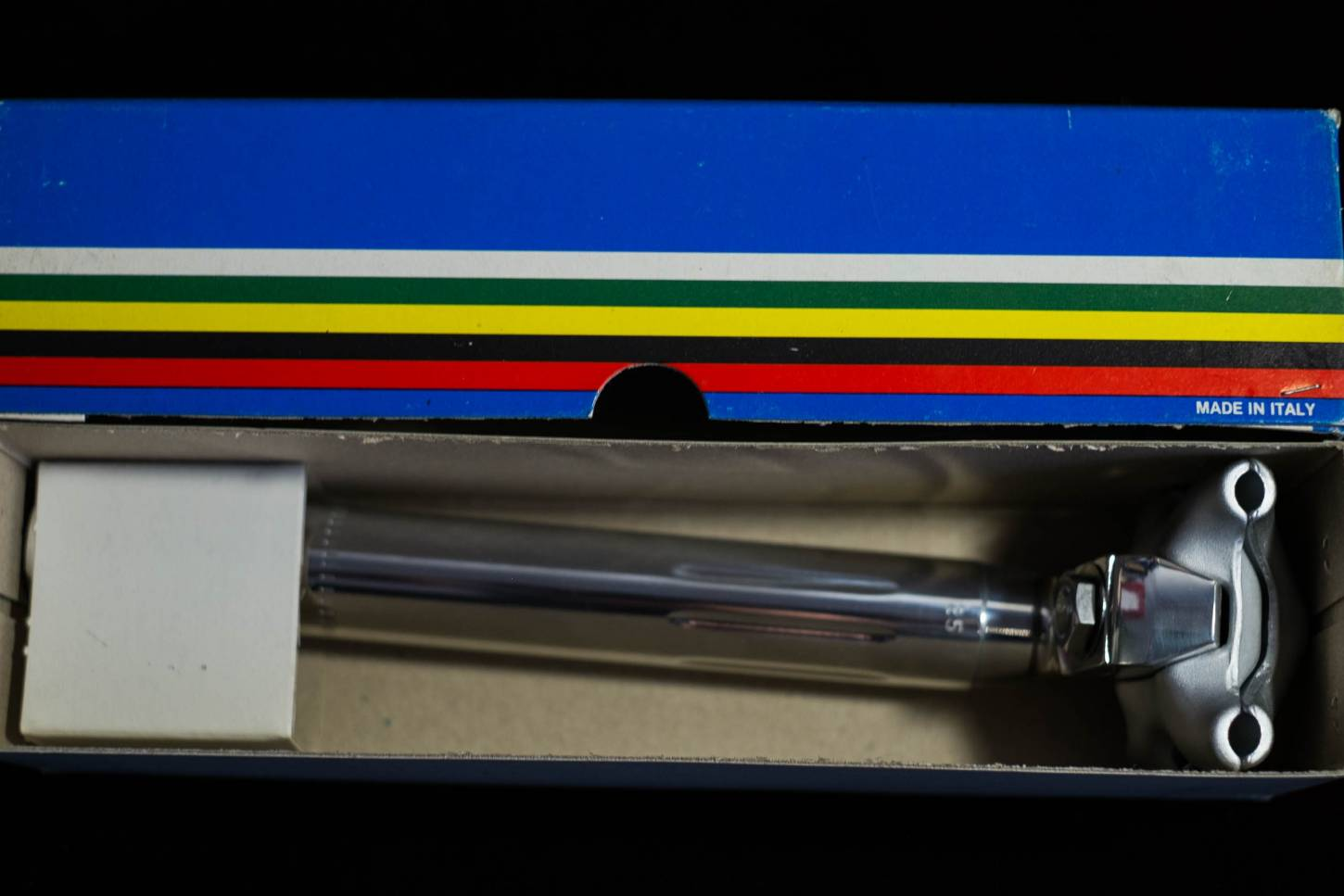 NOS Campagnolo Super Record seat post 25.0 mm ribbed aluminium polished Seatpost Vintage Rennra