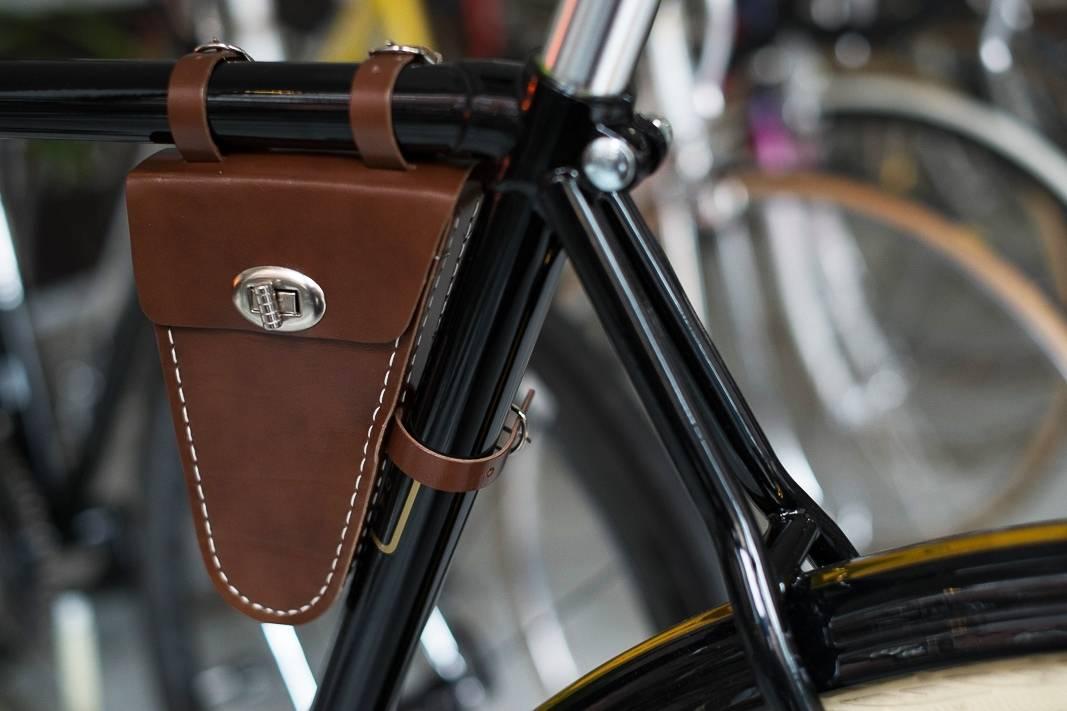 Rahmentasche, Fahrrad, Retro Style, Tasche, Bags, Lefa, antik-braun, honig-braun, schwarz