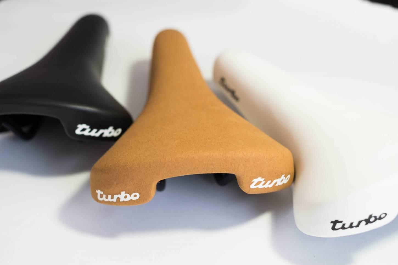 Selle Italia, Turbo Sattel, 1980, Micro weiß, schwarz, braun, Retro, Saddle, Rennrad
