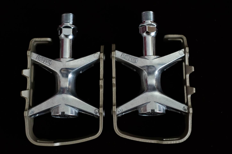 MKS MT-LUX Compe Pedale Aluminium MTB Touring Gravel Bike silver champagne color