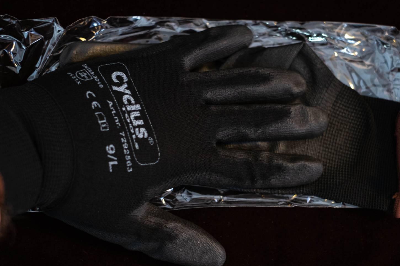 Cyclus Montage Handschuhe Gewerbe gummiert