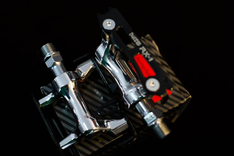 MKS RX-1 Track Pedale black Silver silber hochglanzpoliert NJS Road Bike