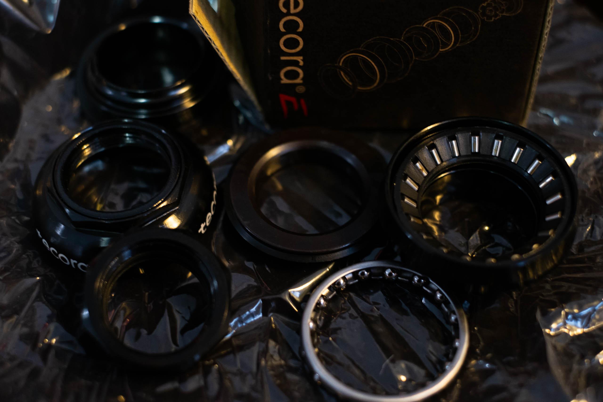 tecora E Steuersatz silber 1 Zoll Rennrad Gewinde Steuersatz EC30 NEU Vintage
