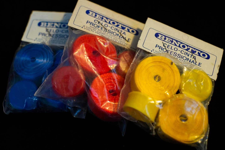 NOS Benotto Professionale Celo Vintage Lenkerband Handlebar Tape in gelb, rot oder blau