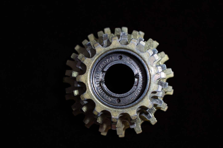 Shimano Dura Ace Schraubkranz Freewheel 6 Fach First Gen. gold 13-19 T FA-110 Vintage