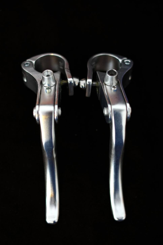 Promax Bremshebel Set Pro Max - Retro Lever Singlespeed in silber oder schwarz 22,2 + 23,8 mm