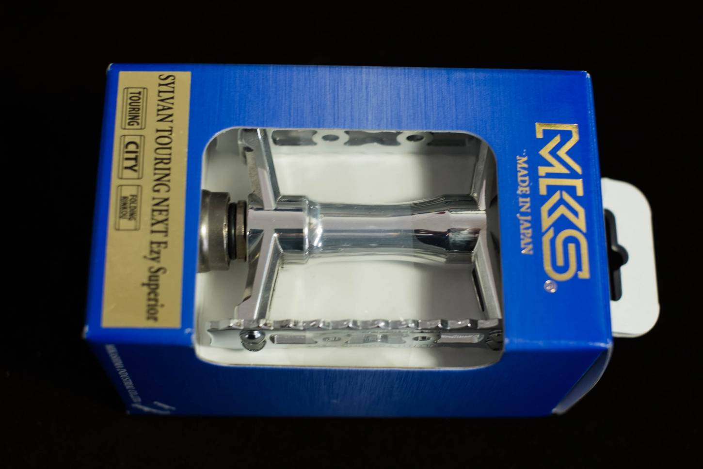 MKS Pedal, Ezy Steckpedale, Touring Next, silber poliert,
