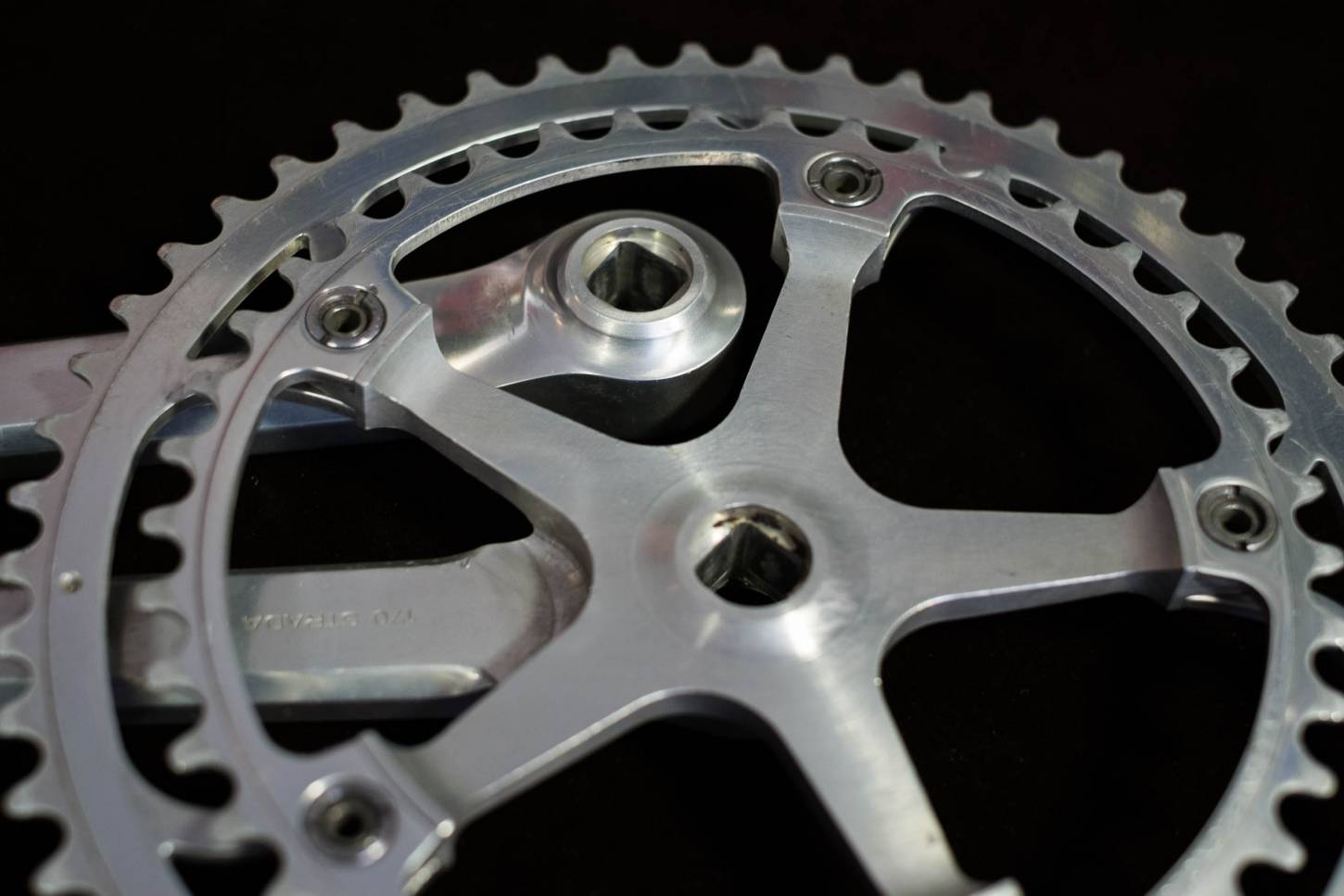 Campagnolo Super Record Strada crankset crankset with 53/42 teeth 144 bolt circle chainrings 170 m