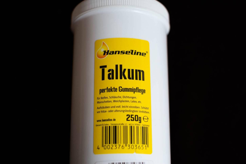 Hanseline Talkum Gummipflege 250g