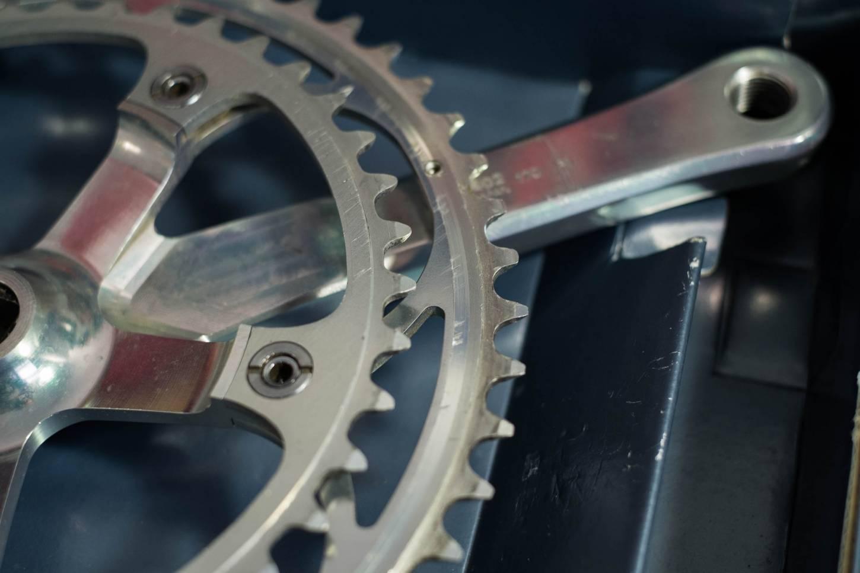 Shimano Dura Ace FC-7402 crank set 170mm 2-speed 52/42 teeth 130 LK Vintage road bike