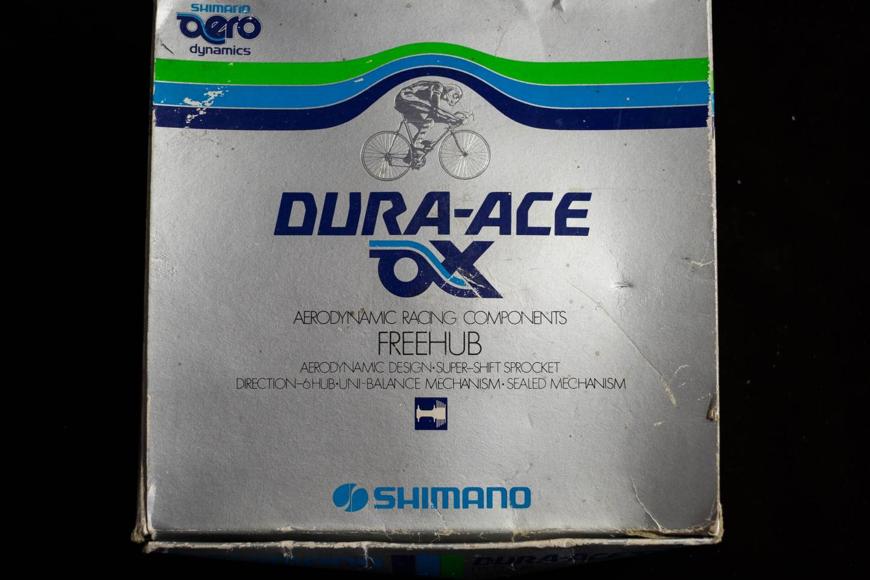 NOS Shimano Dura Ace AX Hub Set Hub Set FH-7370 36 trous Cassette à bride basse Vintage