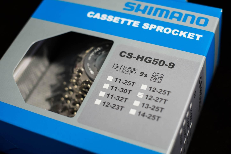 SHIMANO, 9-Fach Kassette, CS-HG50, 12 bis 25/27 Zähne