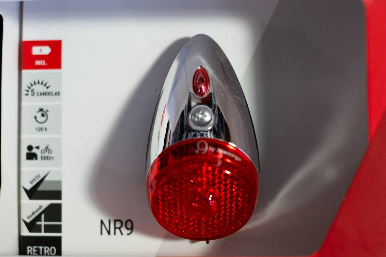 Retro Batterie LED Rücklicht Spanninga NR9 Fahrradrücklicht mit StVZO-Zulassung