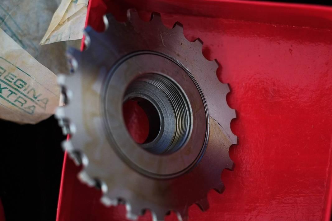 """5 compartment NOS Regina Titanio screw ring """"Freewheel"""