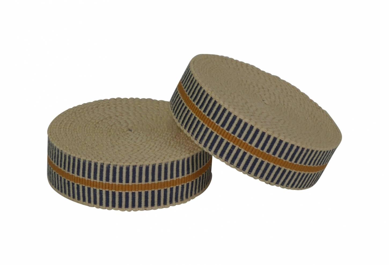 Samurai Bar Tape Lenkerband in dunkelblau/orange 100% Cotton Made in Japan Top Quality Unique