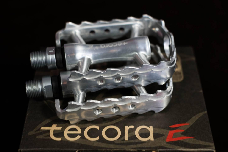 Tecora E MTB Pedale Aluminium silber poliert Pedals
