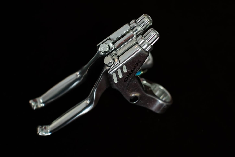 Tektro Bremshebel 3 Finger RT-354 Bremsgriffe 22,2 mm V-Brake Cantilever Flatbar, silber