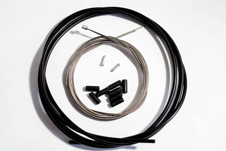Promax Schaltzug Set 2x Innenzüge + 2 m Außenhülle + Kappen Ø 4 mm + Endhülsen