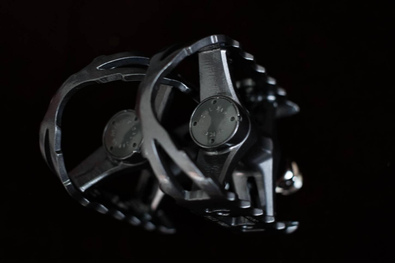 MKS Exim Pedale grau, schwarz Kugellager Pedals grey metallic Rennrad Singlespeed