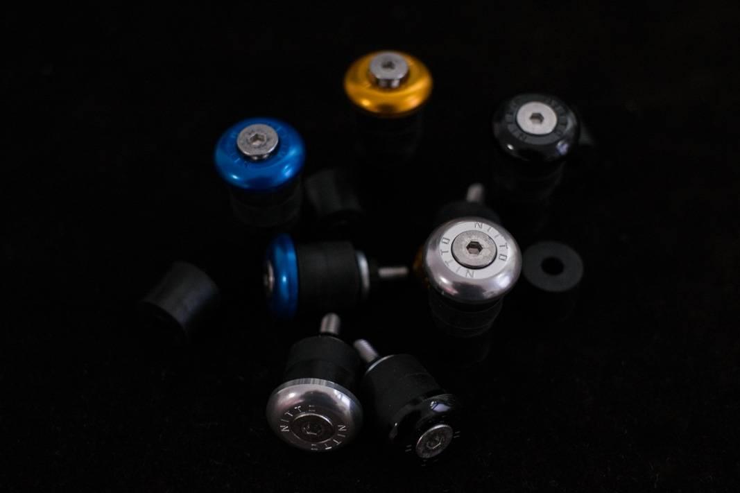 Nitto, Lenkerstopfen, BAR END CAPS, EC-02, Inside, 15,5 -17 mm silber, black, gold, blau, rot