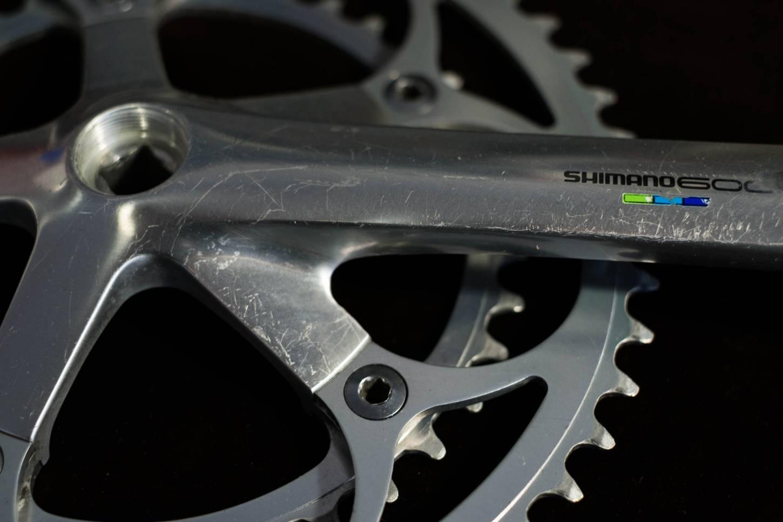 Shimano 600 Ultegra Kurbel Set FC-6400 170 mm 2-Fach mit 52/39 T Kettenblätter Aluminium