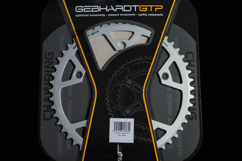 Gebhardt Classic Kettenblätter LK 110 silber + schwarz 33 - 52 Zähne Chainrings