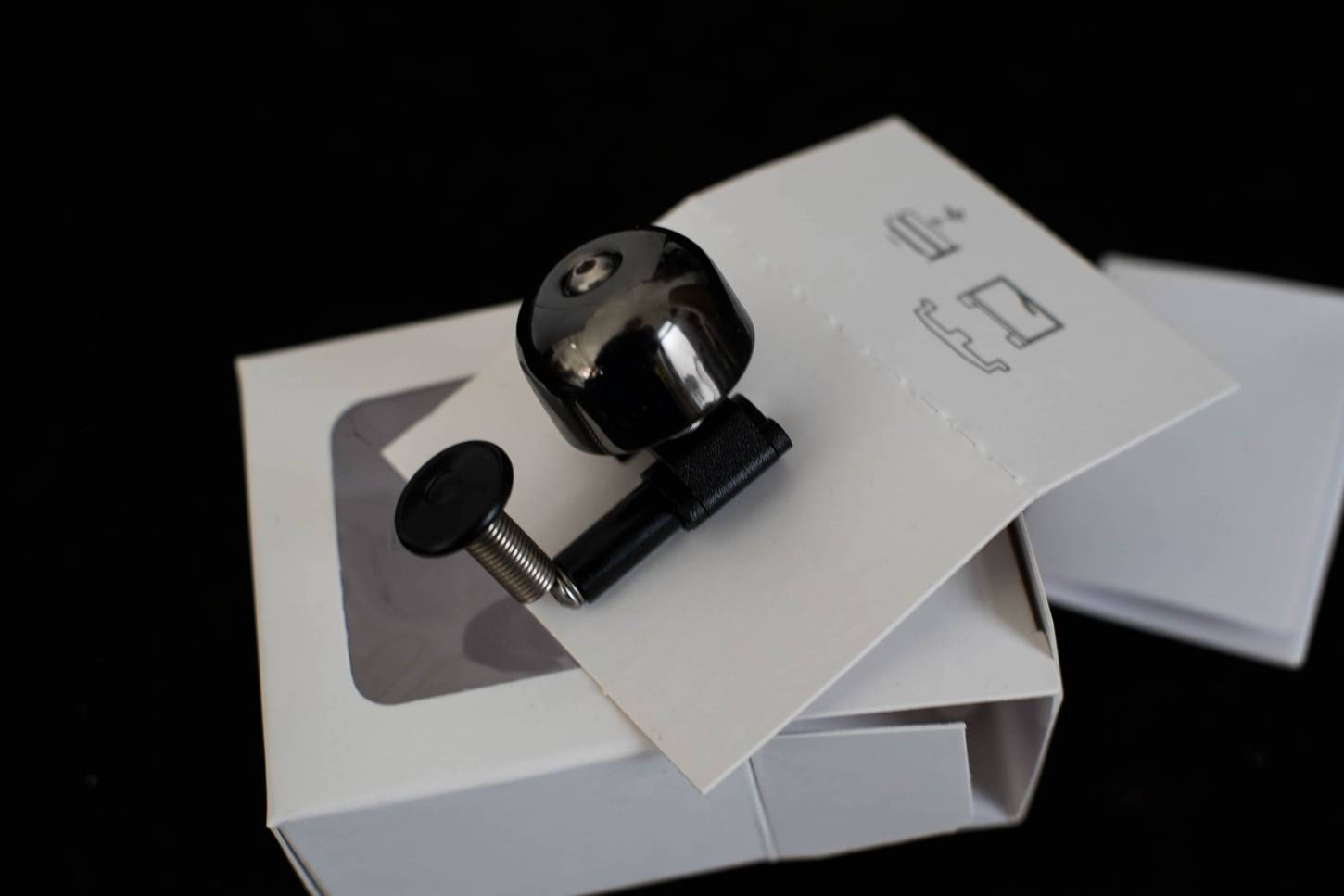 Clip Mini Brass Bell Bell Bell Road Bike clip on en gris-noir
