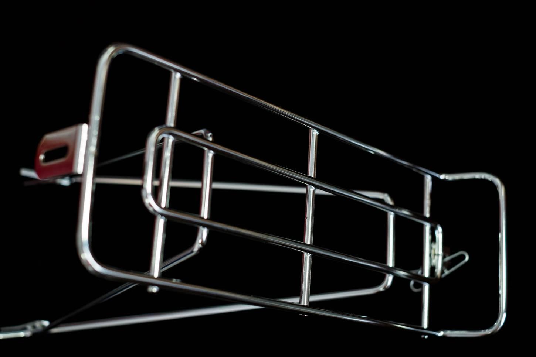 WALD 215 Rear Rack Hinterrad Gepäckträger Stahl silber verchromt oder schwarz