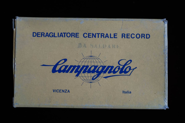 NOS Campagnolo Nuovo Record Umwerfer Anlöt Braze On Vintage Rennrad NIB