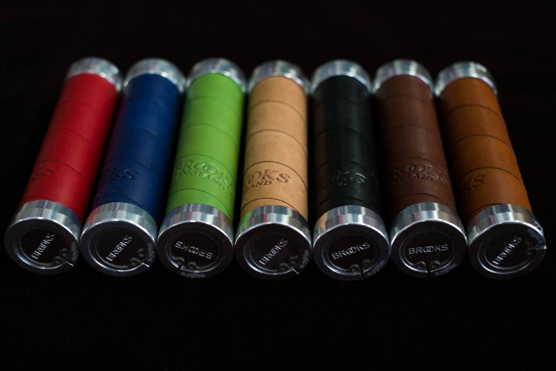 Brooks Lenkergriffe Slender Leather Grips Griffe Leder alle Farben Ledergriffe
