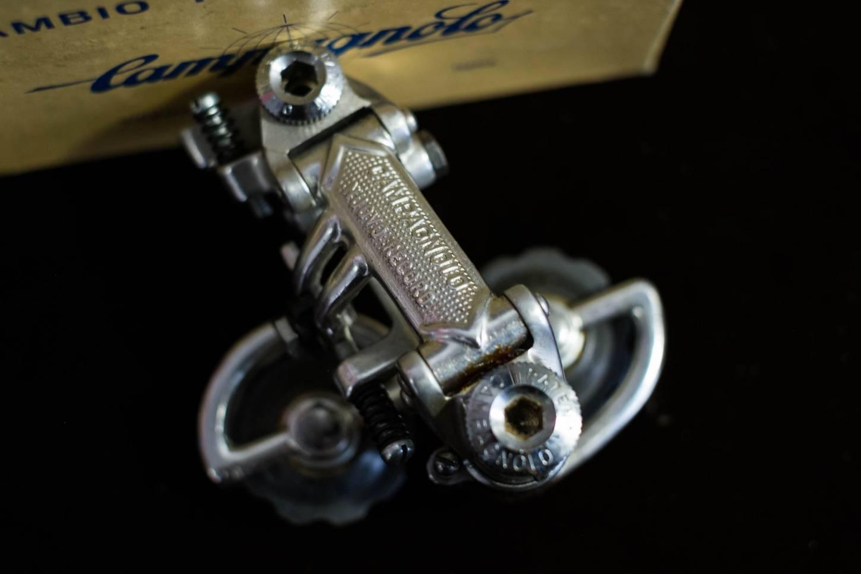 NOS Campagnolo Nuovo Record Schaltwerk Pat. 80 + Umwerfer + Schalthebel Vintage Rennrad Shifters Der