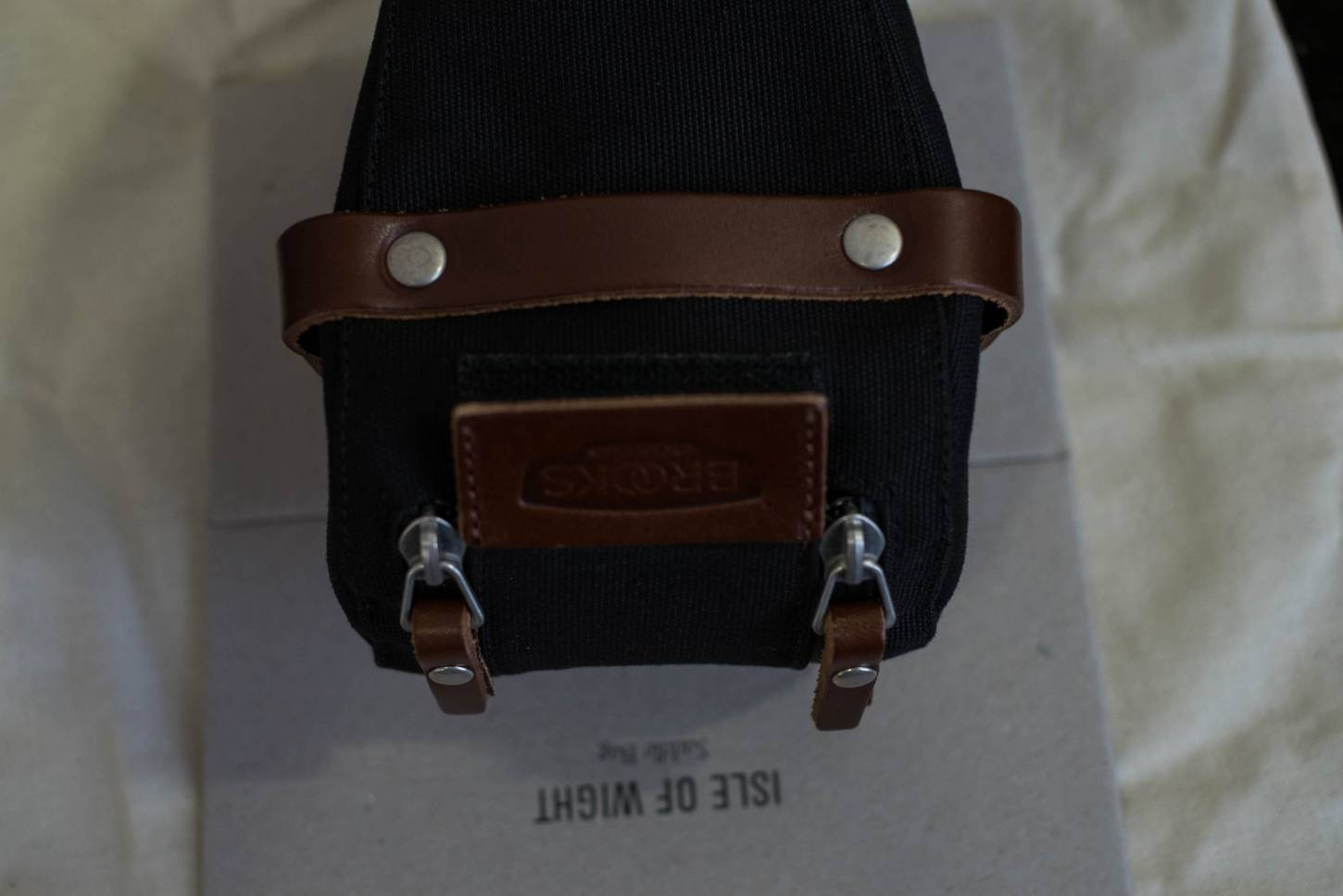Brooks Satteltasche Isle of Wight black/brown Saddle Bag Small + Medium + Large