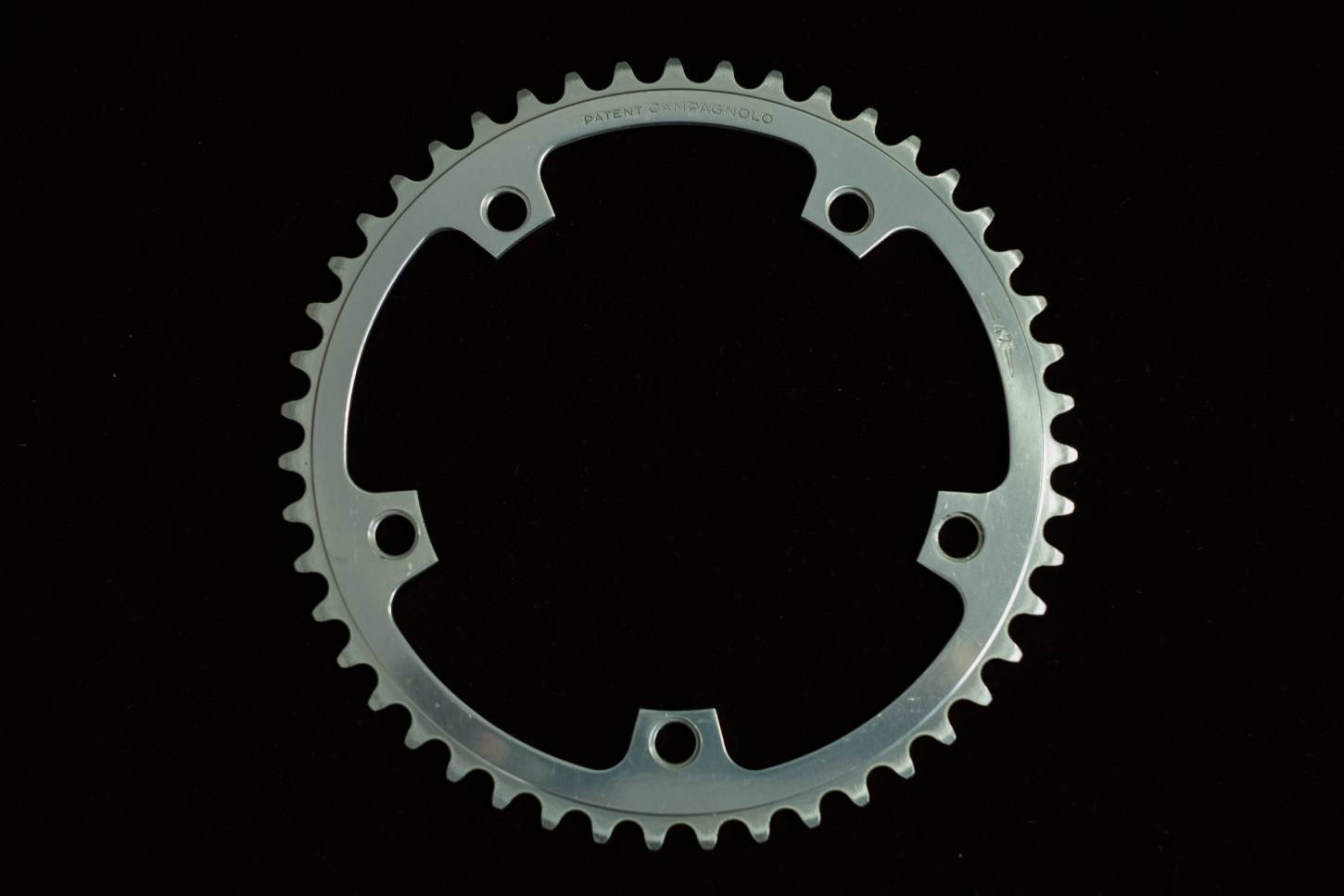 "Campagnolo chainring chainring 47 teeth 144 LK Super Record Patent 3/32"" Vintage road bike"