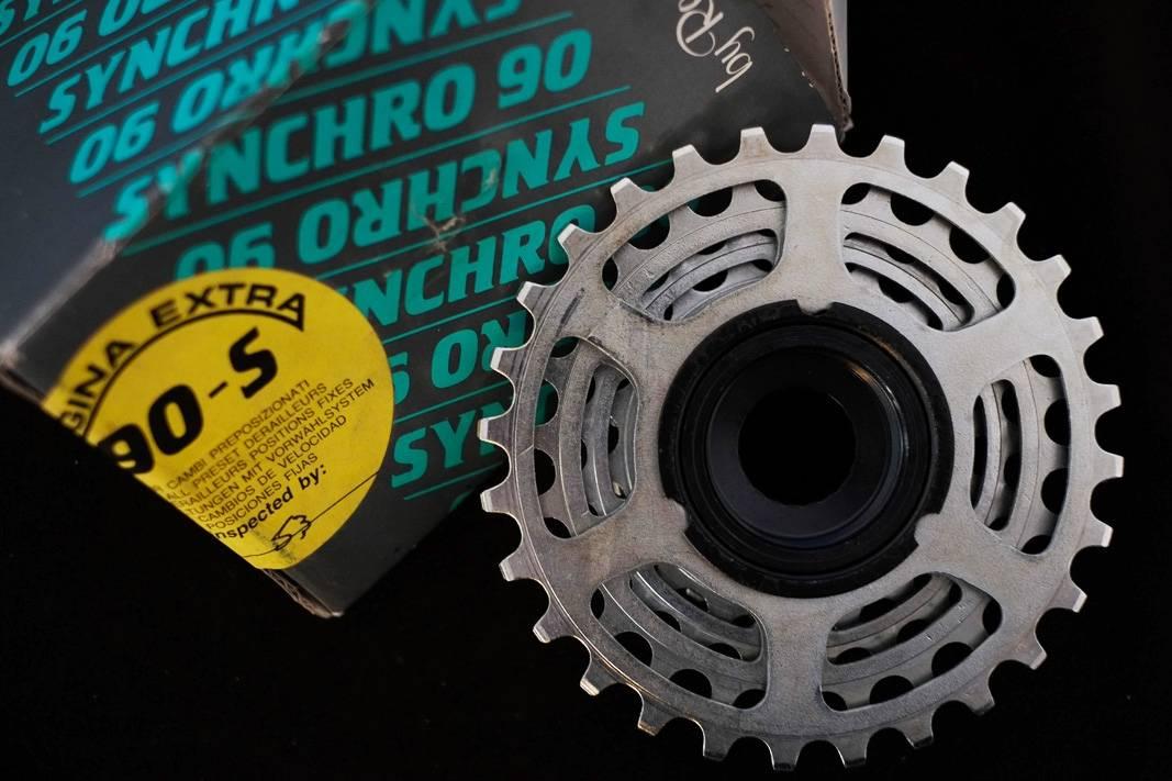 """7 compartimentos NOS Regina Extra Synchro 90 - S Anillo de tornillo """"Rueda libre"""" Eroica 12-28 Z"""