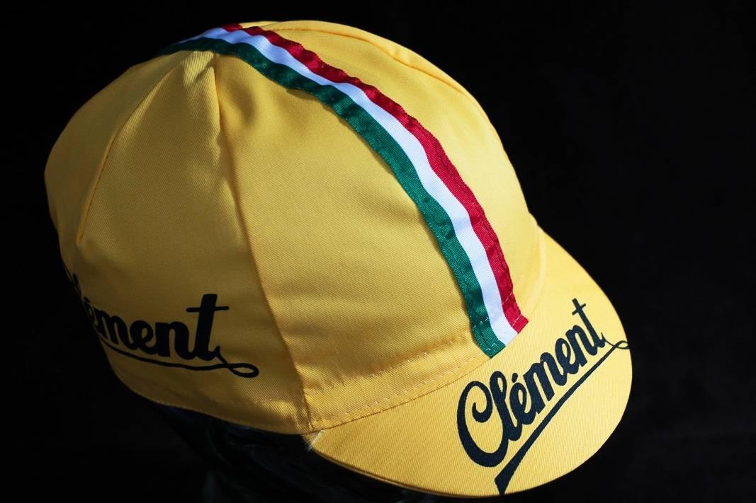 """Clement Kappe """"Cycling Cap"""" Schirmmütze Radlermütze mit Weltmeisterstreifen"""