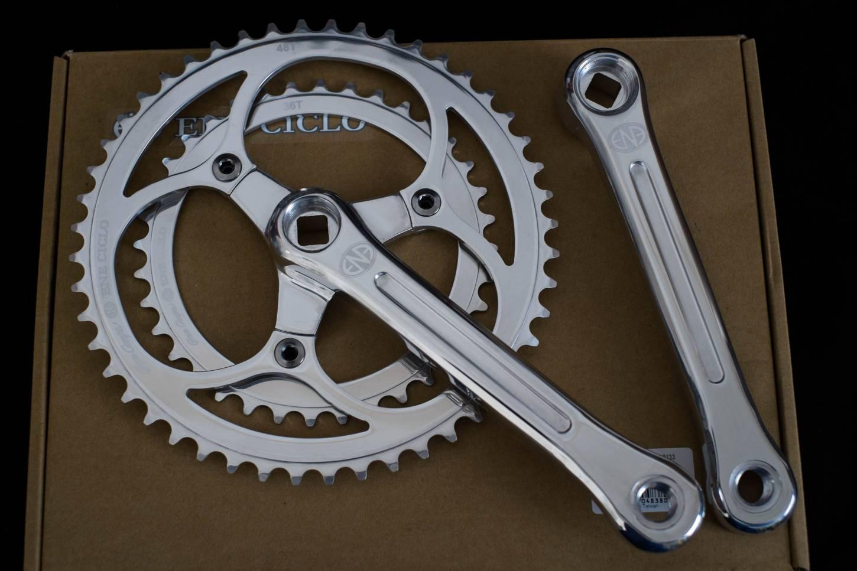 Dia-Compe, ENE Ciclo Kurbel, Set, 2-Fach, 170mm, 48T-36T, Double Crankset, polished