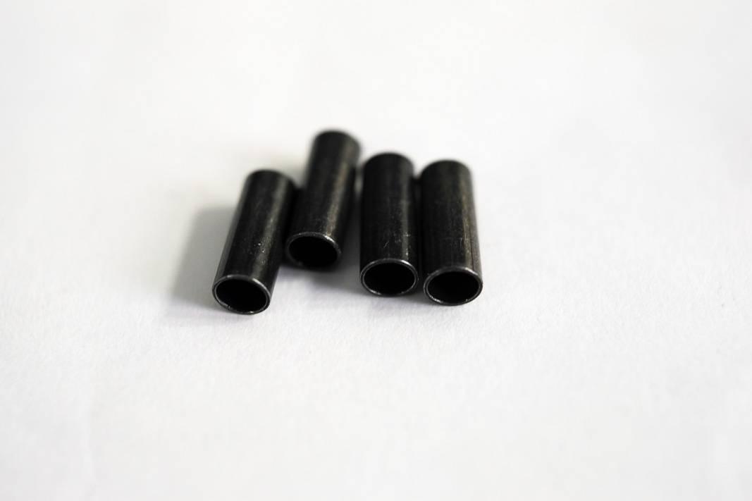 """4x Jagwire 4,5 mm """"Messing"""" Endkappen für Schaltzughülle Braided L3 LEX-SL in chrom oder schwarz"""