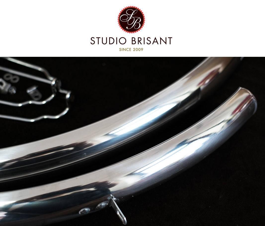 polierte Fahrrad Metall Schutzbleche, Edelstahl, Aluminium Chrom, 28 Zoll 36mm Breite,