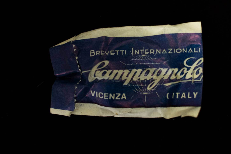 NOS Campagnolo Oberrohrschelle 3x Clips Brake Cable Guides Top Tube Nuovo Super Record Vintage